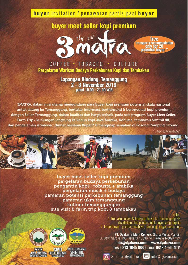 3 matra coffe tobacco culture 2019 baru