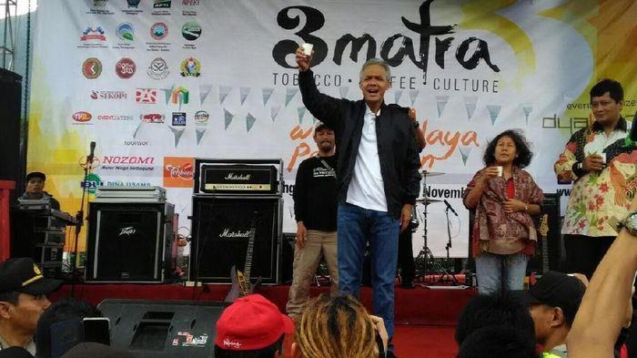 Gubernur Jawa Tengah, Ganjar Pranowo membuka acara 3 Matra (Coffe-Tobacco-Culture) Dok: Istimewa