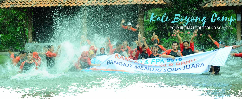 Kali Boyong Camp Outbound di Yogyakarta